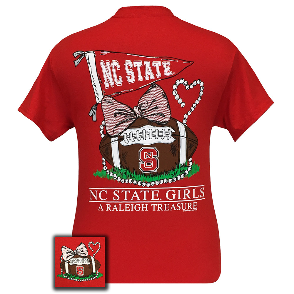 North Carolina State Treasure Red Short Sleeve