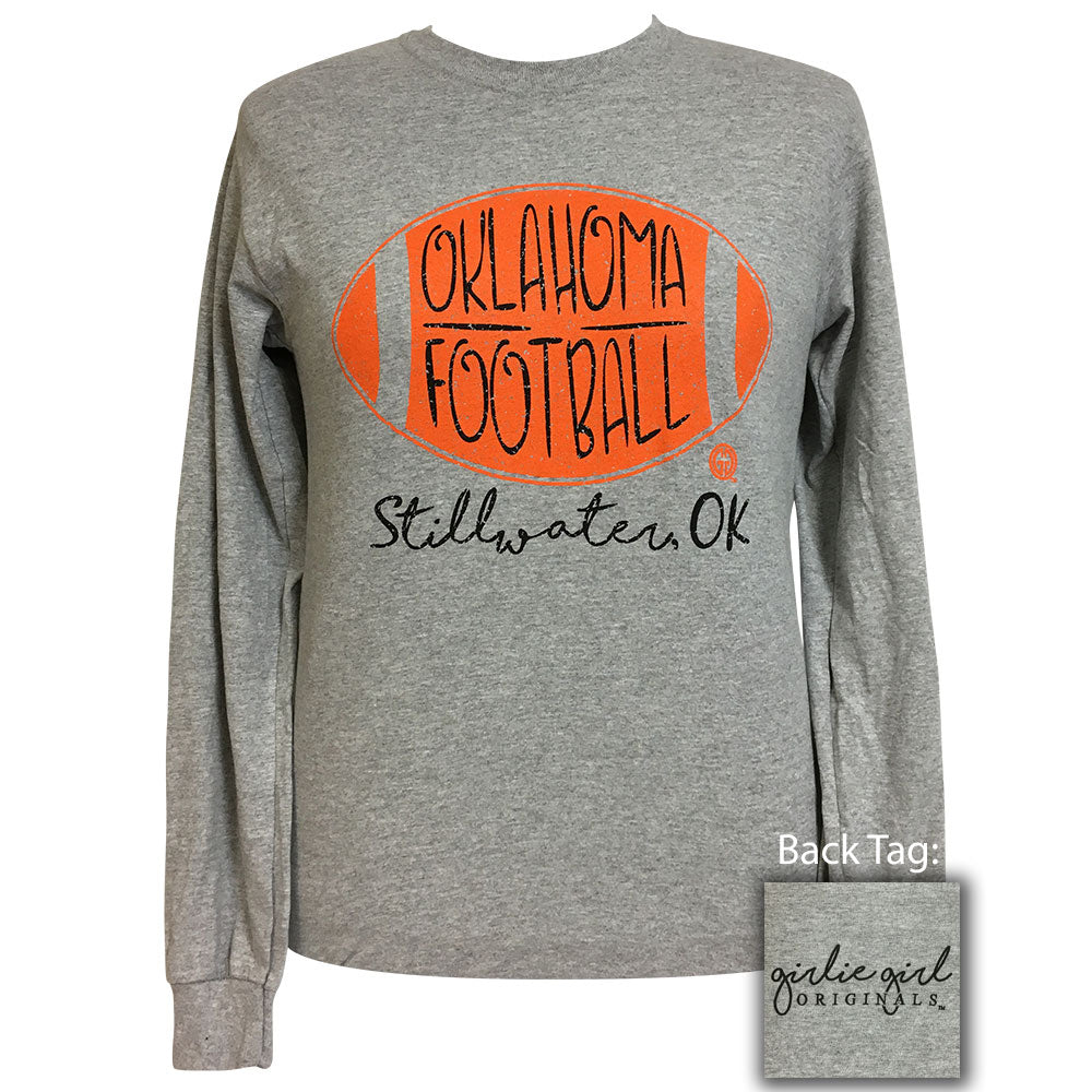 Oklahoma Football Stillwater Sports Grey Long Sleeve T-Shirt