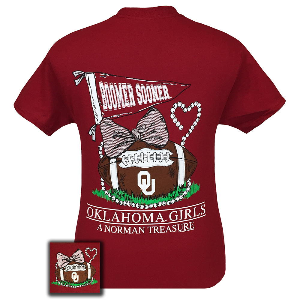 Oklahoma Treasure Cardinal Red Short Sleeve