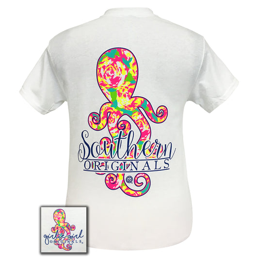 Preppy Octopus White Short Sleeve