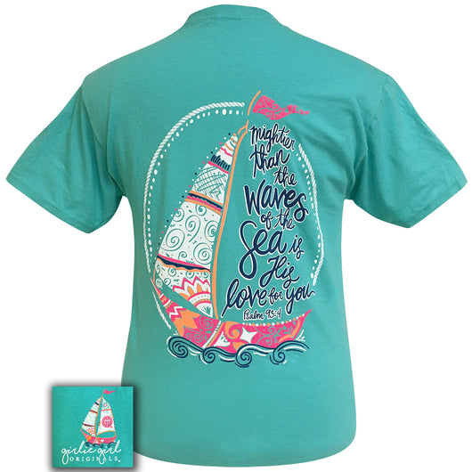 Psalm 93:4 Scuba Blue Short Sleeve T-Shirt