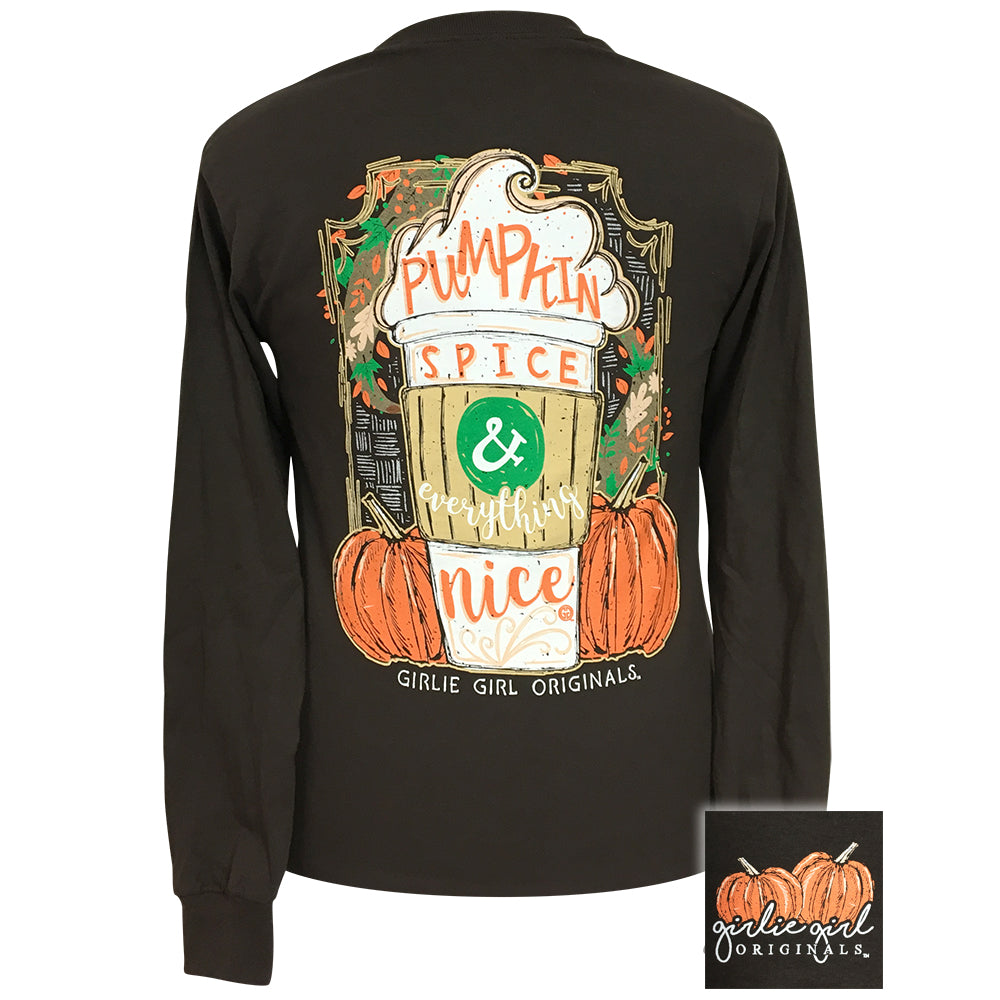 Pumpkin Spice & Everything Nice Dark Chocolate Long Sleeve