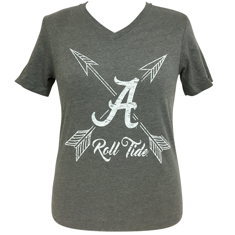 Arrows Roll Tide Alabama Short Sleeve V-Neck Tee