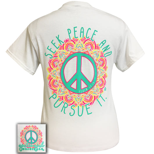 Seek Peace White  Short Sleeve Tee