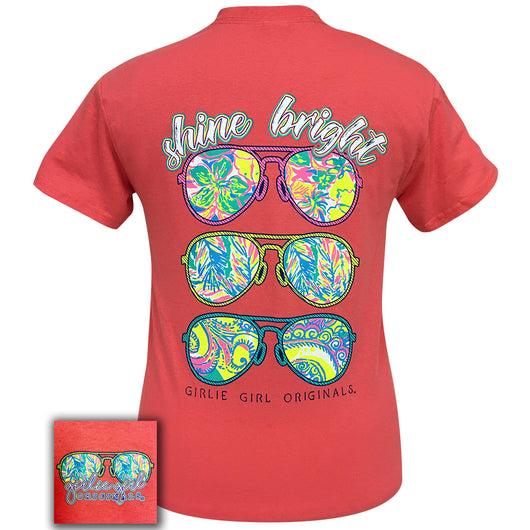 Shine Bright Coral Silk Short Sleeve Tee