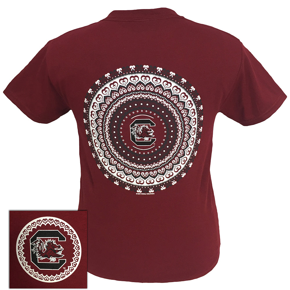 South Carolina Mandala Garnet Short Sleeve
