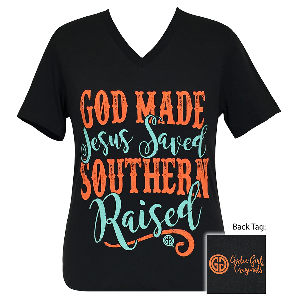 Southern Raised V-Neck Short Sleeve Dark Grey