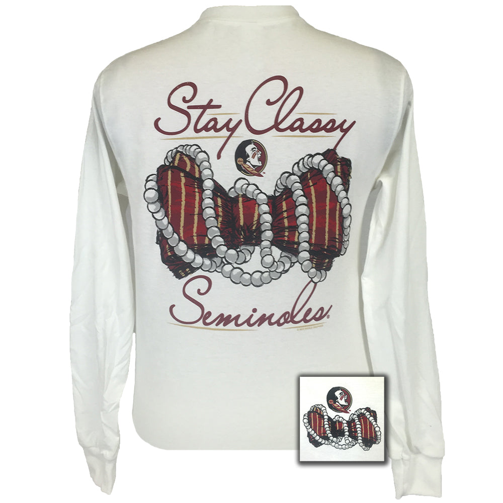 Florida State Stay Classy White Long Sleeve