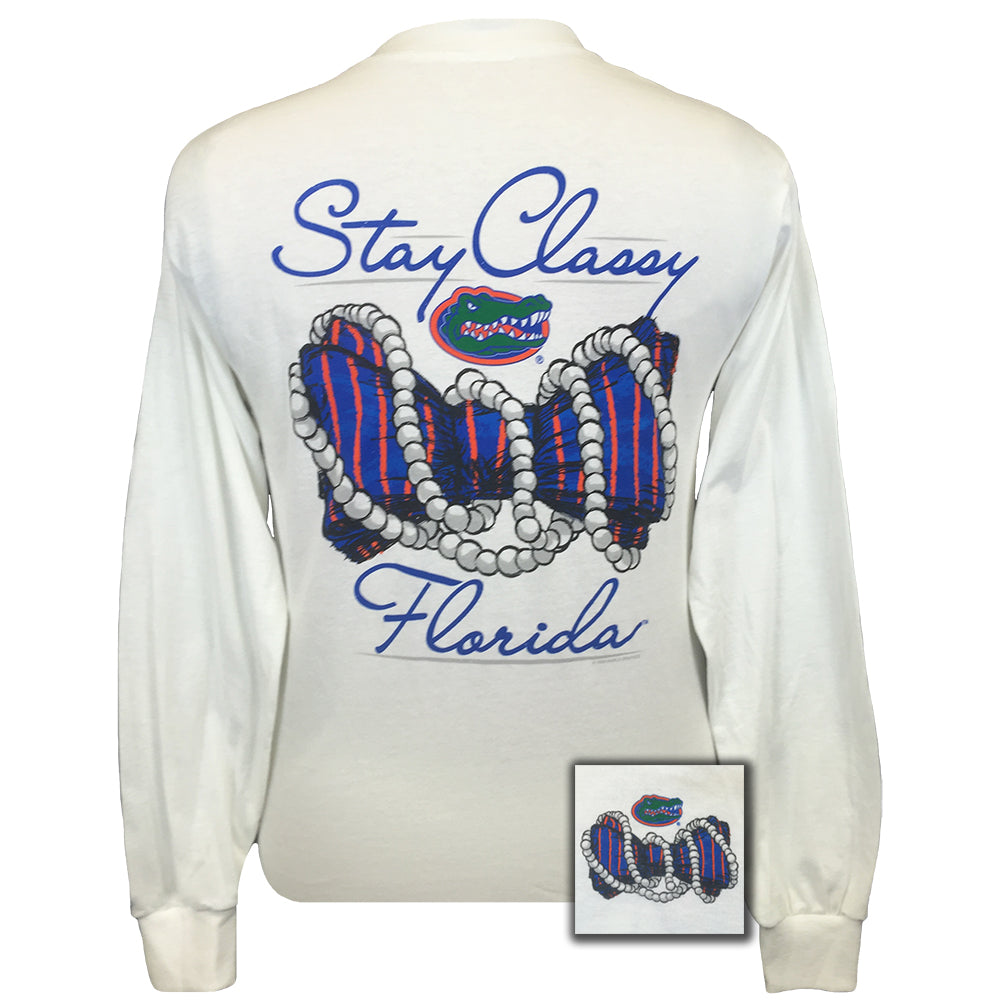 Florida Gators Stay Classy White Long Sleeve