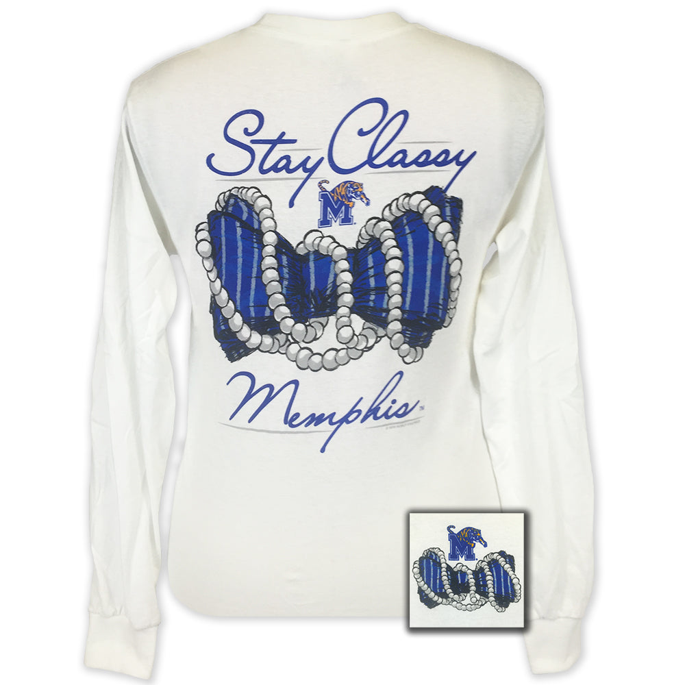 Memphis Stay Classy White Long Sleeve