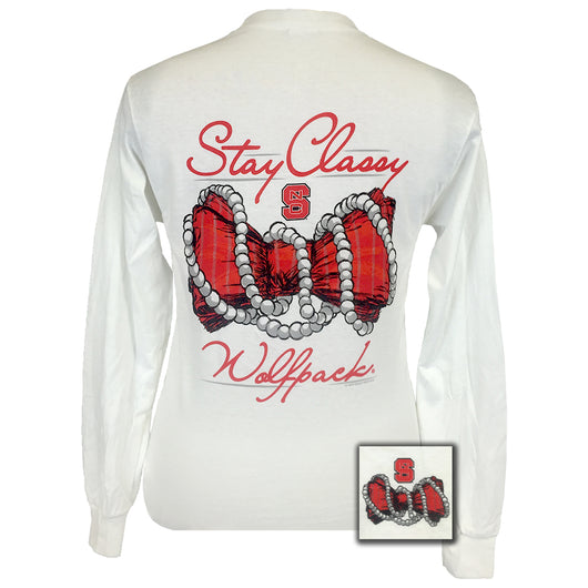 Stay Classy North Carolina White Long Sleeve