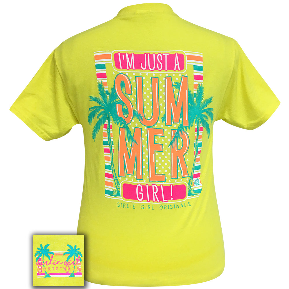 Summer Girl Neon Yellow Short Sleeve Tee