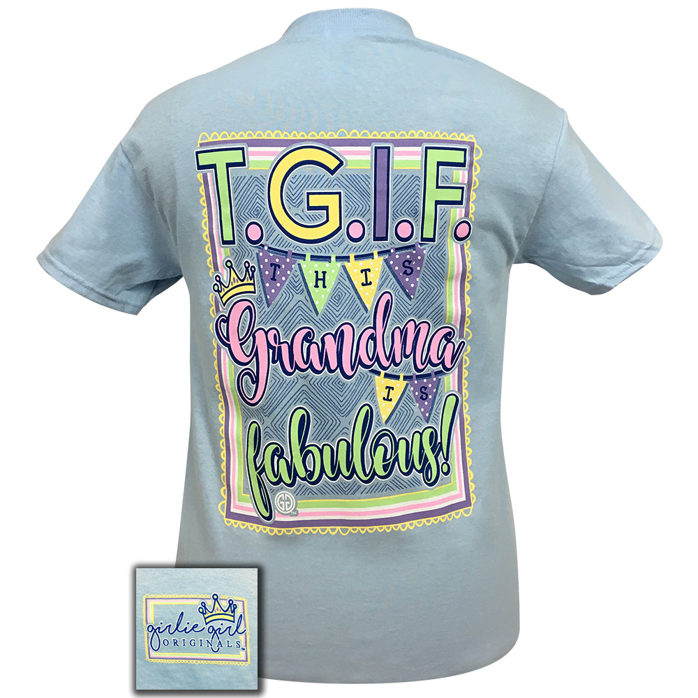 TGIF GRANDMA LIGHT BLUE - 1566 SHORT SLEEVE