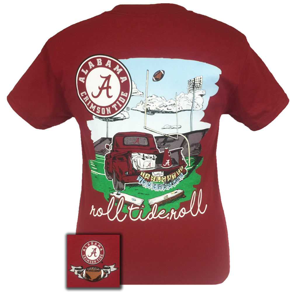 Tailgates and Touchdowns Alabama Cardinal Red Short Sleeve