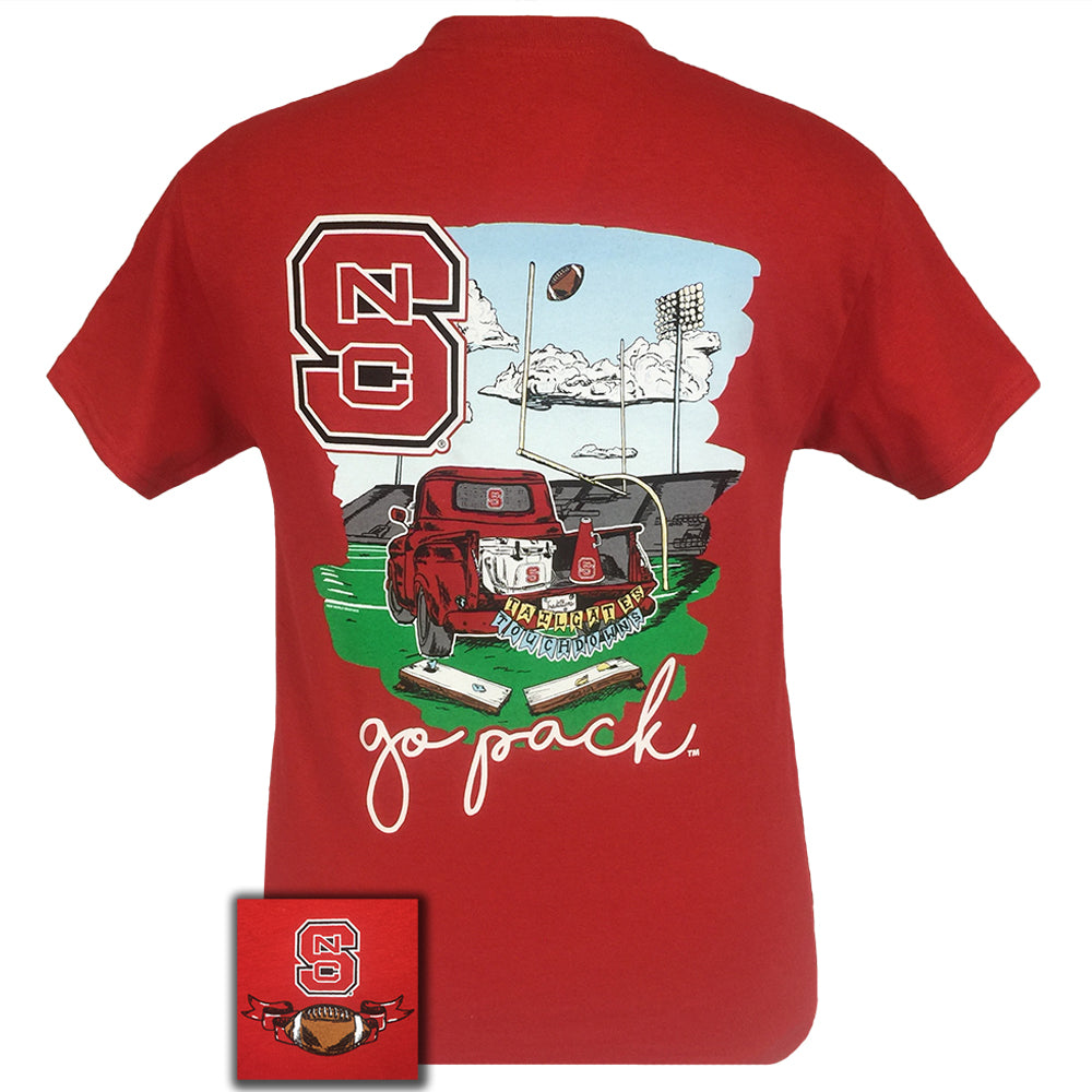 Tailgates and Touchdowns North Carolina Red Short Sleeve