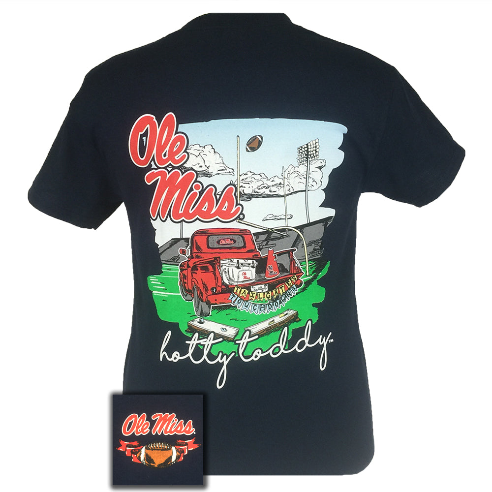 Tailgates and Touchdowns Ole Miss Navy Short Sleeve