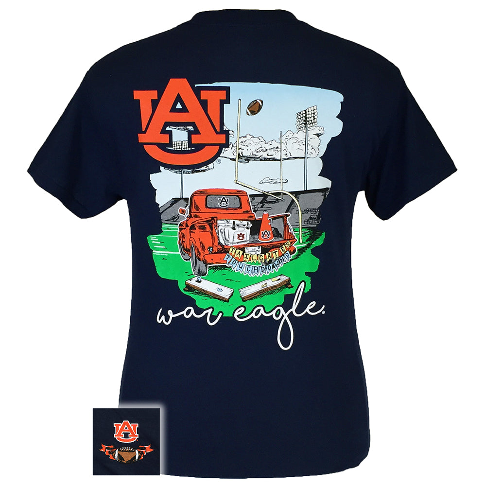 Tailgates and Touchdowns Auburn Navy Short Sleeve