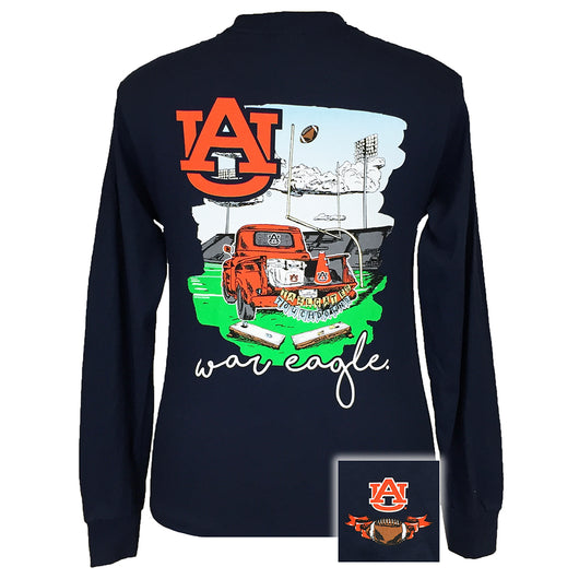 Tailgates and Touchdowns Auburn Navy Long Sleeve