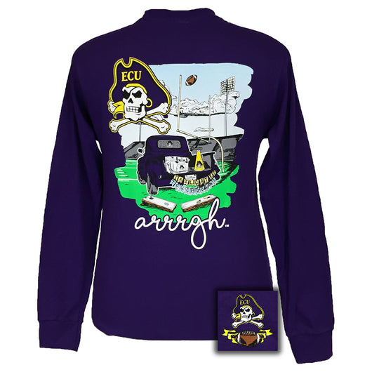 Tailgates and Touchdowns East Carolina Purple Long Sleeve
