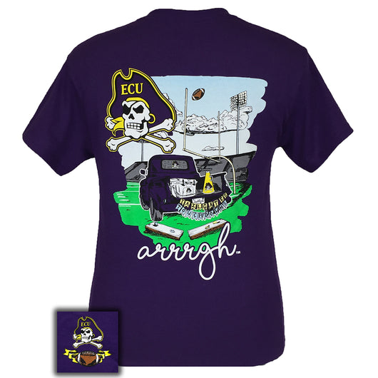 Tailgates and Touchdowns East Carolina Purple Short Sleeve