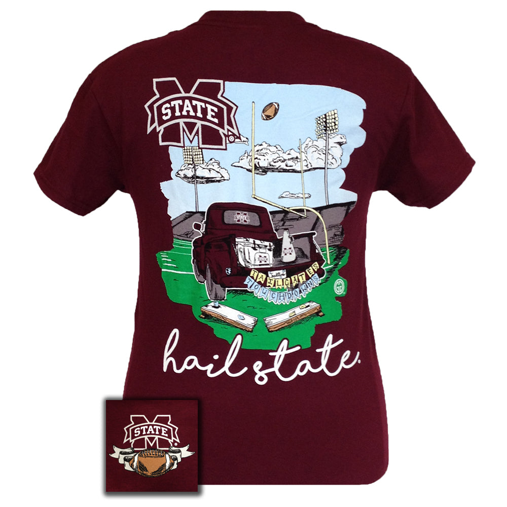 Tailgates and Touchdowns MSU Maroon Short Sleeve