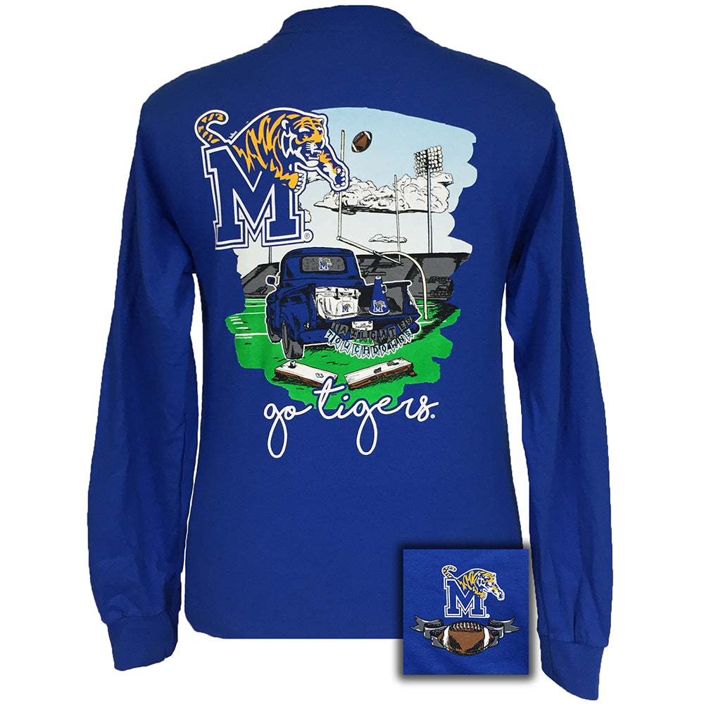 Tailgates and Touchdowns Memphis Royal Long Sleeve