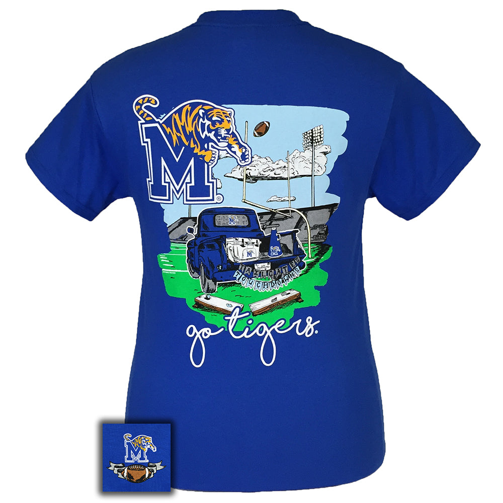 Tailgates and Touchdowns Memphis Royal Short Sleeve