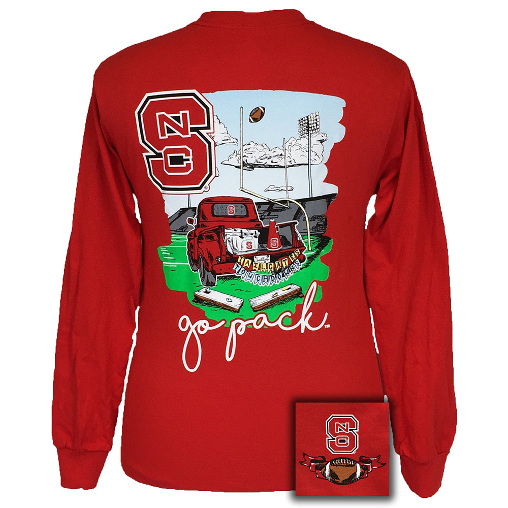 Tailgates and Touchdowns North Carolina Red Long Sleeve