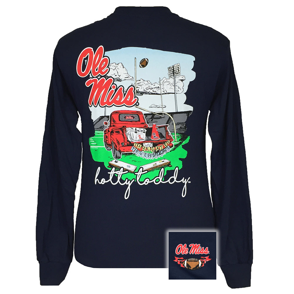 Tailgates and Touchdowns Ole Miss Navy Long Sleeve