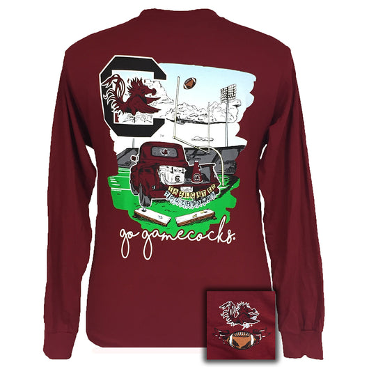 Tailgates and Touchdowns South Carolina Garnet Long Sleeve