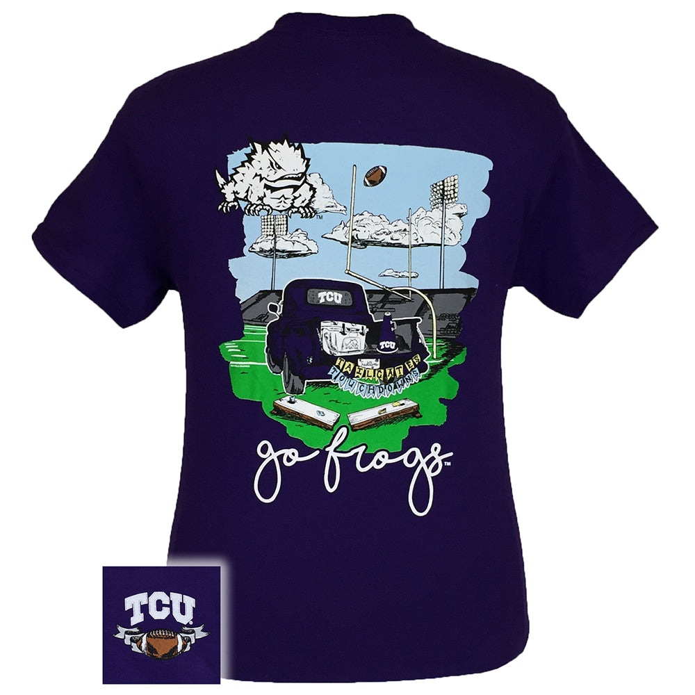 Tailgates and Touchdowns TCU Short Sleeve Purple