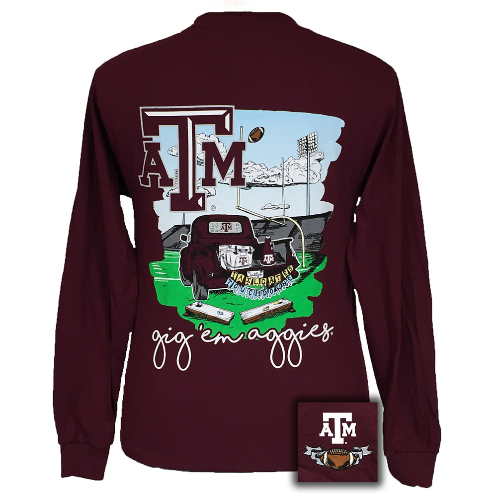 Tailgates and Touchdowns Texas A&M Maroon Long Sleeve