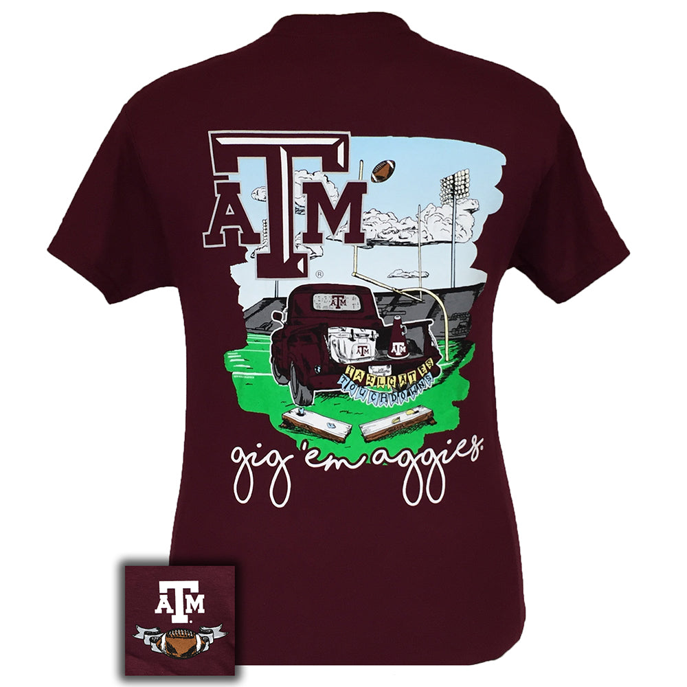 Tailgates and Touchdowns Texas A&M Maroon Short Sleeve