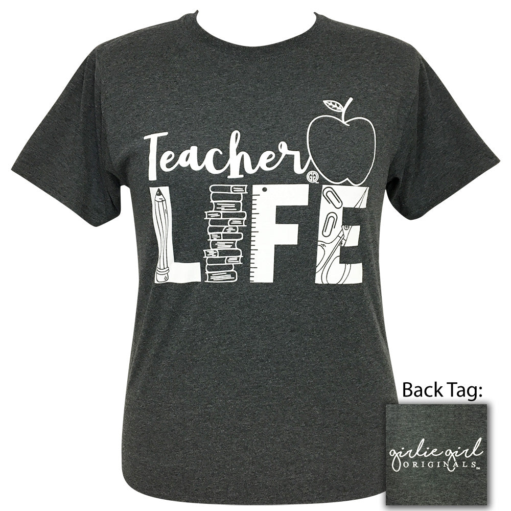 Teacher Life Black Heather Short Sleeve