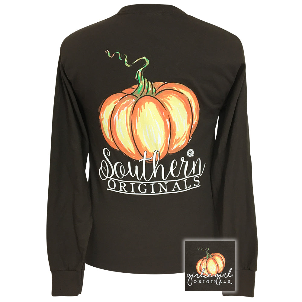 Watercolor Pumpkin Chocolate Long Sleeve