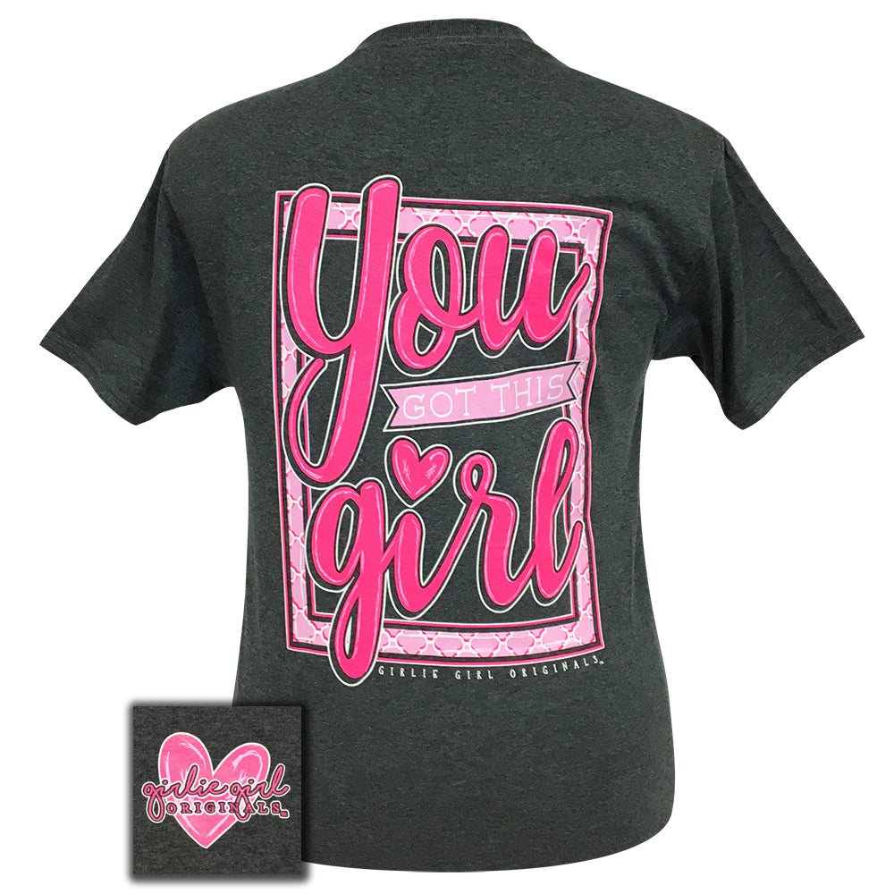 You Got This! Black Heather Short Sleeve