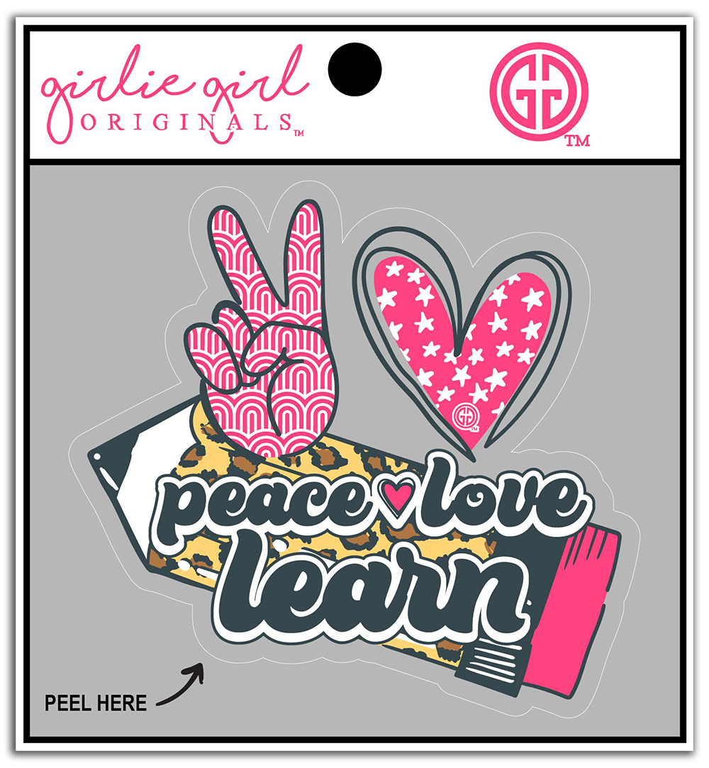 Decal/Sticker-2317-Peace Love Learn