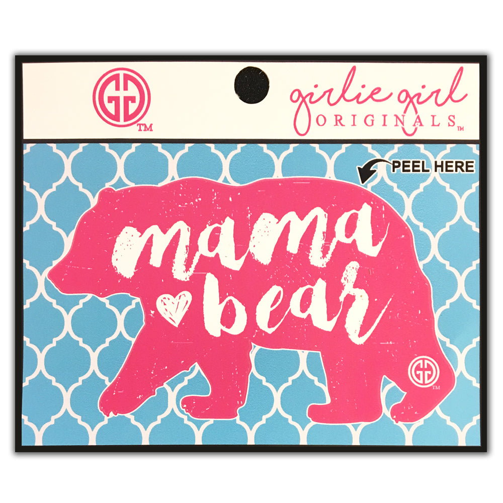 Mama Bear Decal/Sticker Hot Pink