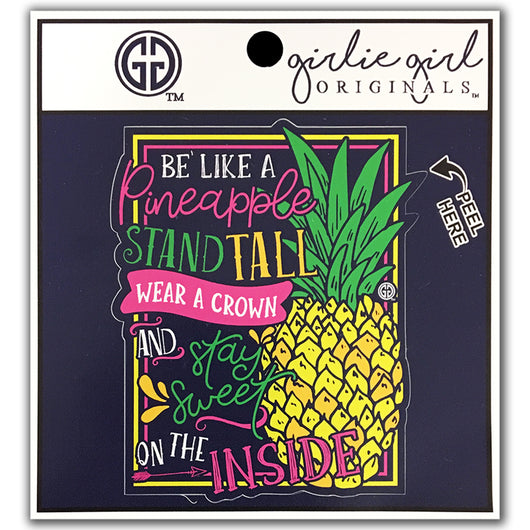Sweet Pineapple Decal/Sticker Navy