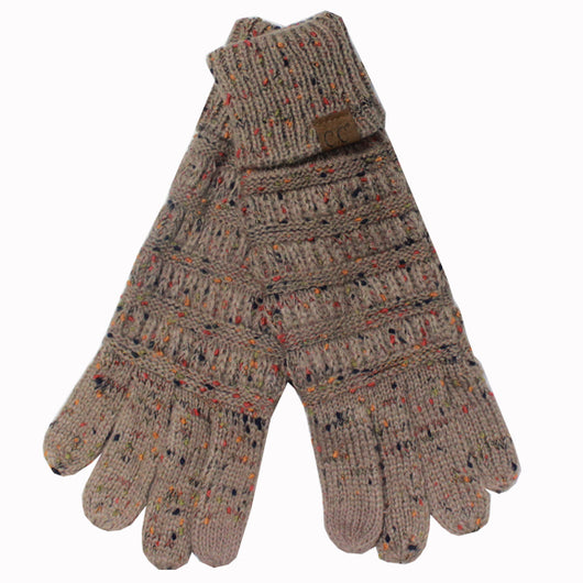 G-33 C.C Taupe Speckled Gloves
