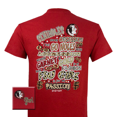 Florida State T-Shirt: FSU Obsession (Short Sleeve)