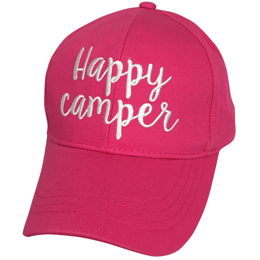 BA-2017 C.C Happy Camper Hot Pink Cap