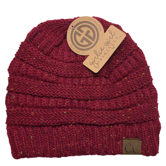 HAT-33 Speckled Beanie Burgundy