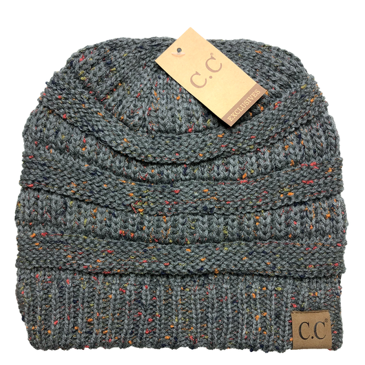 HAT33-Speckled Dark Melange Gray