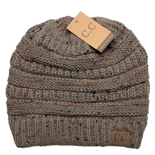 HAT-33 Speckled Beanie Taupe