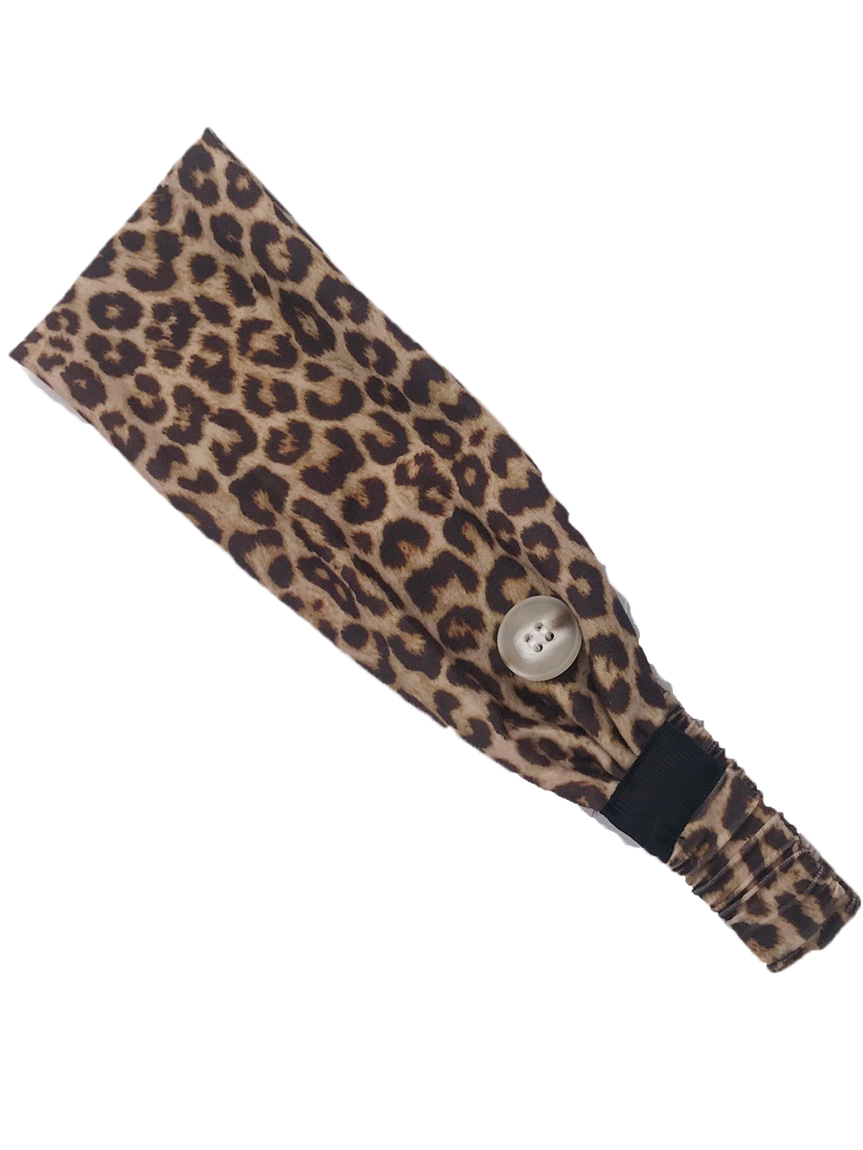 HB-2020 Adult Headband Leopard Brown