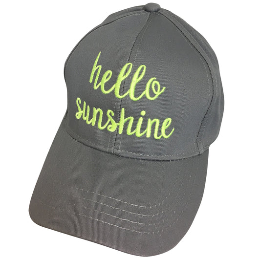 Pony Cap Hello Sunshine Grey with Green