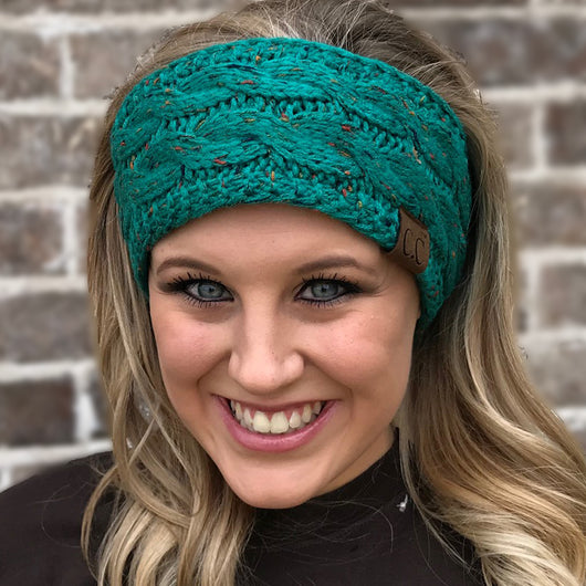 HW-33 SEAGREEN SPECKLED HEADWRAP