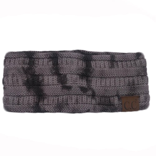 HW-821 Dark Grey/Light Grey Tie Dye Headband