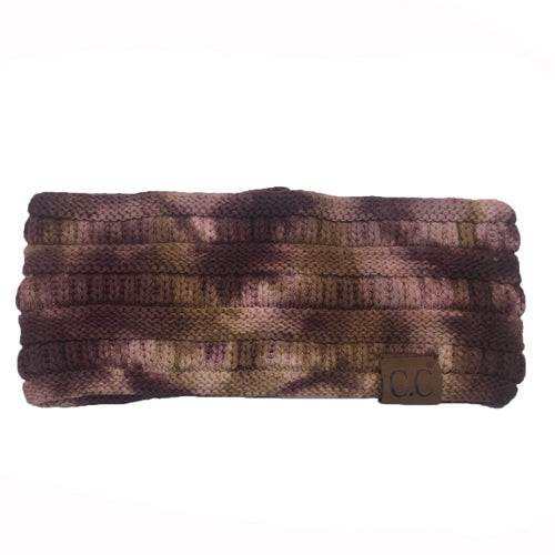 HW-821 Brown/Camel Tie Dye Headband